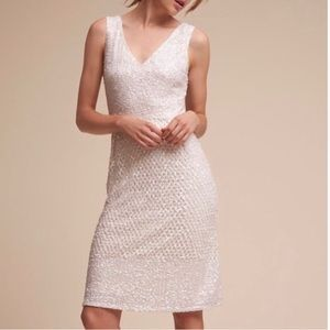 Adrianna Papell Ivory Sequin Dress